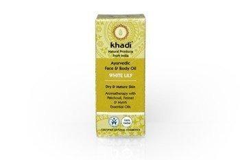 Ajurwedyjski olejek do twarzy i ciała z białą lilią Khadi 10 ml