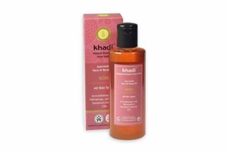 Ajurwedyjski olejek do twarzy i ciała z różą Khadi