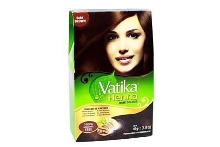 Farba do włosów z henną Vatika - ciemny brąz