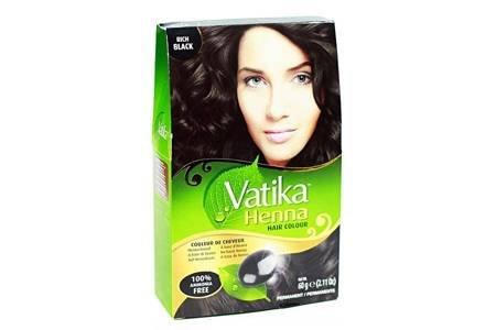Farba do włosów z henną Vatika - głęboka czerń