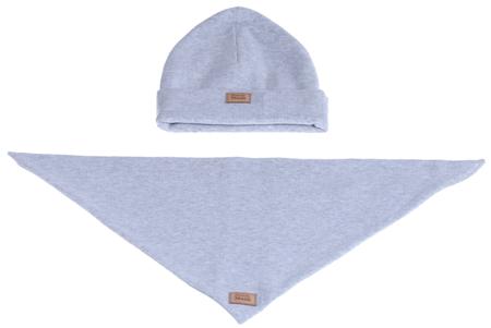 Komplet czapka i chusta: MGLISTY PYŁ