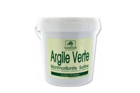 Zielona glinka montmorylonitowa w proszku 1 kg